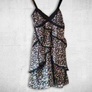 Spaghetti Strap Dress w/Floral Dedign/Lace Accents
